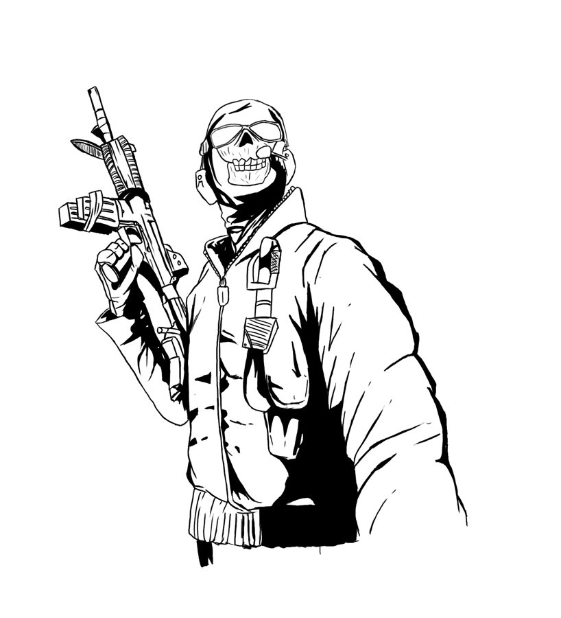 Call Of Duty Zombie Coloring Pages